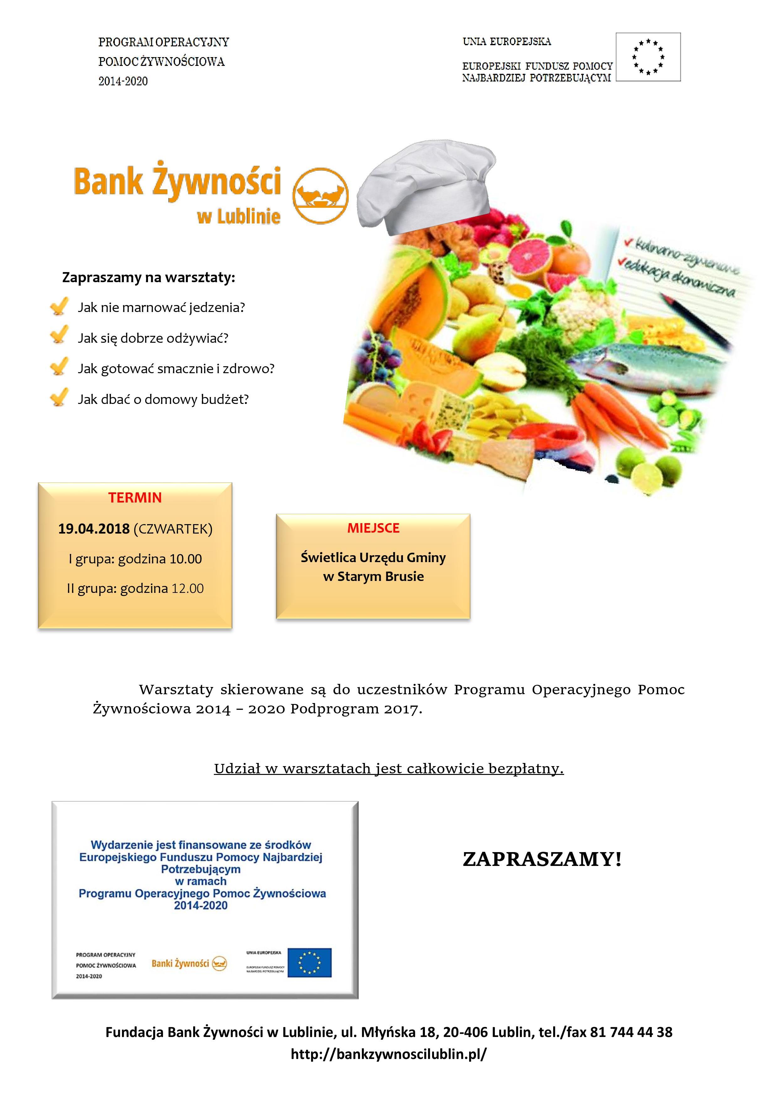 Pomoc Żywnościowa – Warsztaty kulinarne