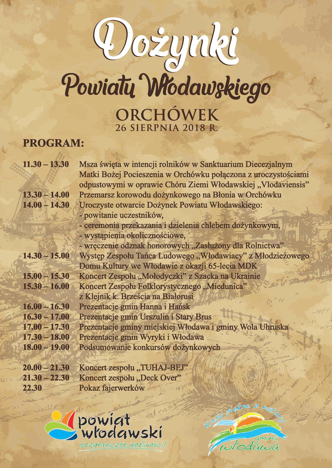 Dożynki Powiatu Włodawskiego 2018