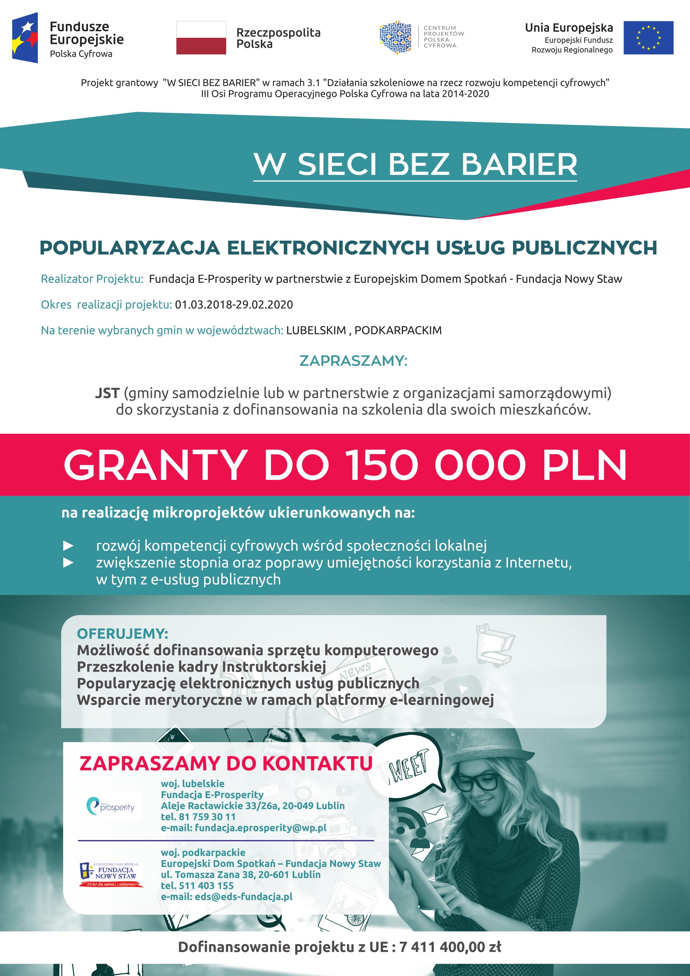 Działania szkoleniowe na rzecz rozwoju kompetencji cyfrowych Programu Operacyjnego Polska Cyfrowa