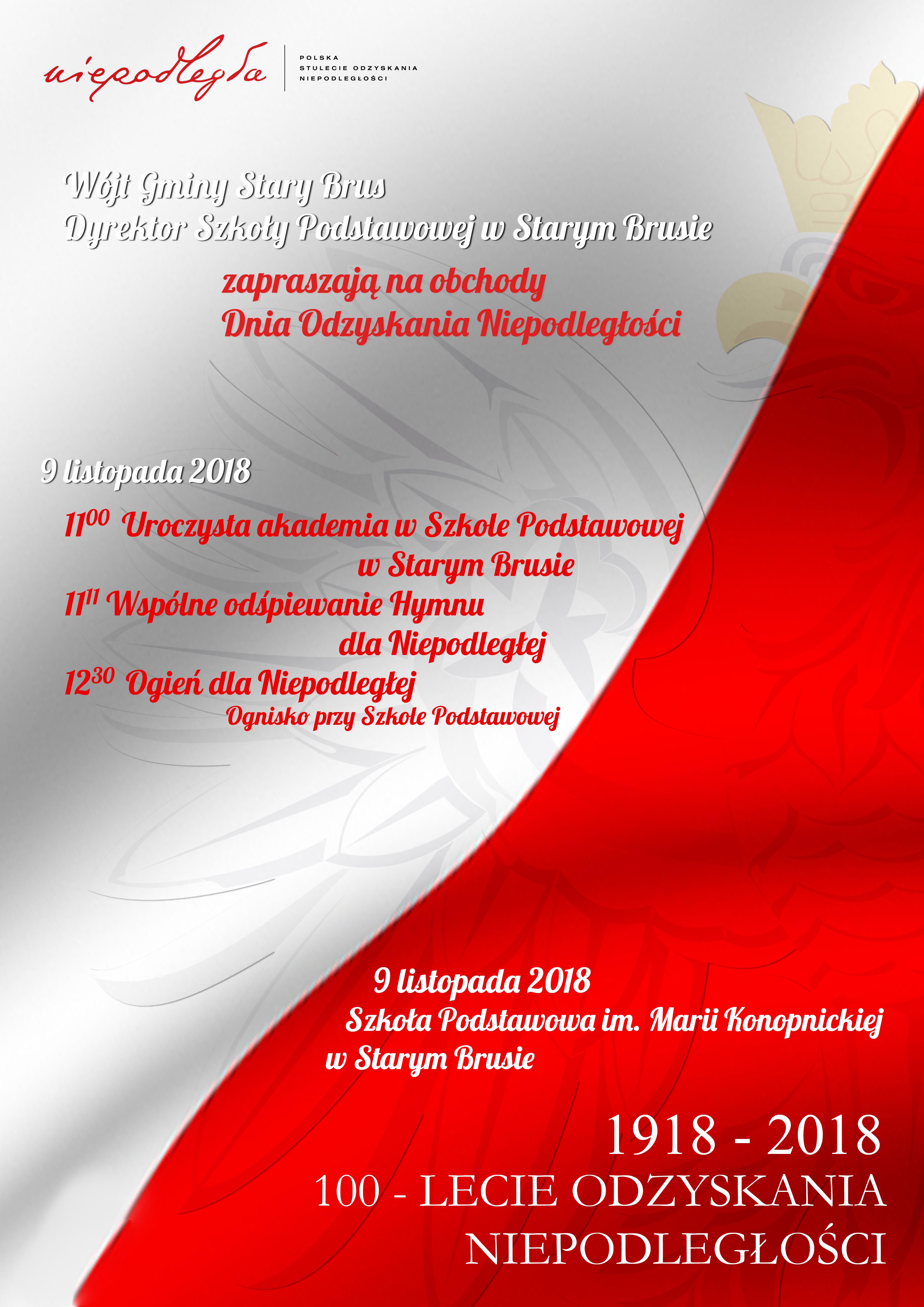Niepodległa! Zaproszenie na obchody Dnia Niepodległości