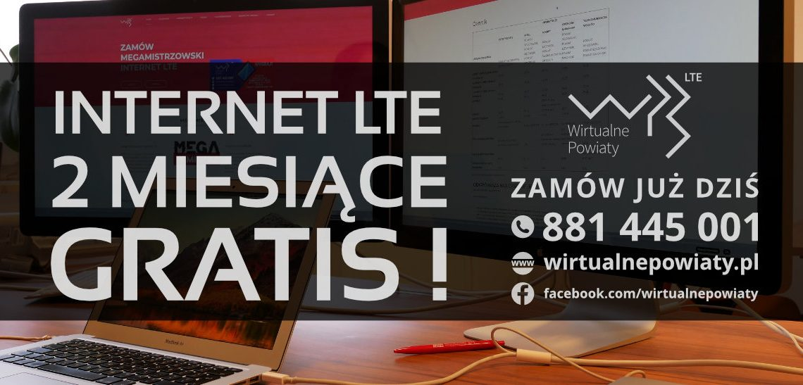 """2 miesiące gratis"" Promocja na Internet od WP3"