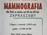 Bezpłatne badania mammograficzne – nowy termin