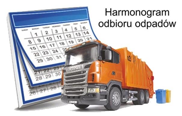 Harmonogram odbioru odpadów na I półrocze 2021 roku
