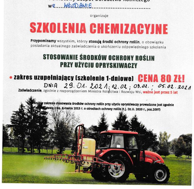Szkolenia chemizacyjne dla rolników